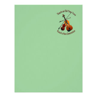 Fiddle Letterhead - Teach Old Time