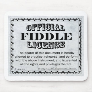 Fiddle License Mouse Pad