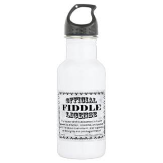 Fiddle License Stainless Steel Water Bottle
