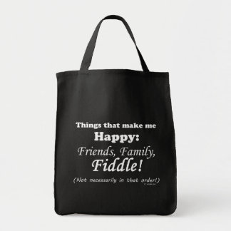 Fiddle  Makes Me Happy Tote Bag