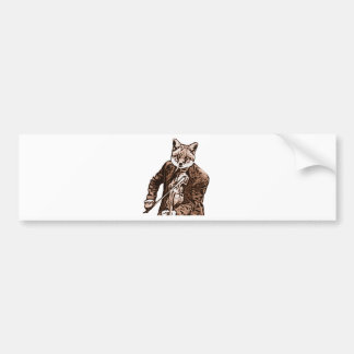Fiddle Music fox Bumper Sticker