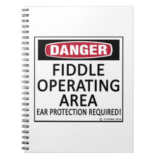 Fiddle Operating Area Spiral Notebooks