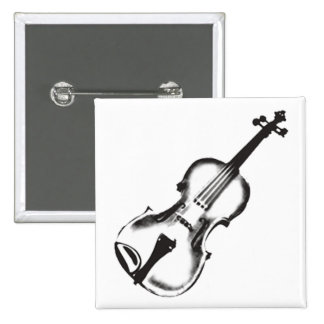 """Fiddle or Violin """"Drawing"""" Pinback Button"""