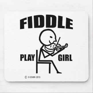 Fiddle Play Girl Mouse Pad