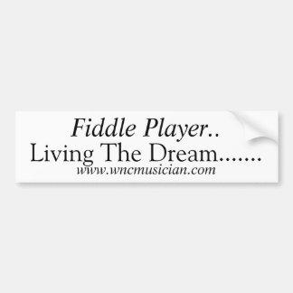 Fiddle Player Sticker Bumper Sticker