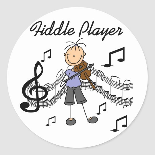 Fiddle Player Stickers Sticker
