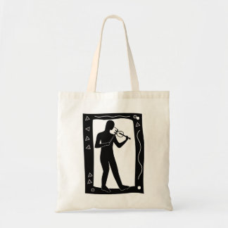 Fiddle Player Tote Budget Tote Bag
