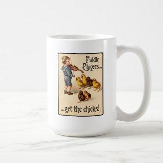 Fiddle Players Get the Chicks Violin Music Coffee Mug