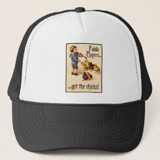 Fiddle Players Get the Chicks Violin Music Trucker Hat