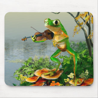 Fiddle Playing Frog Mousepad