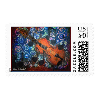 Fiddle Postage Stamps