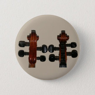 Fiddle Scrolls Front & Back Pinback Button