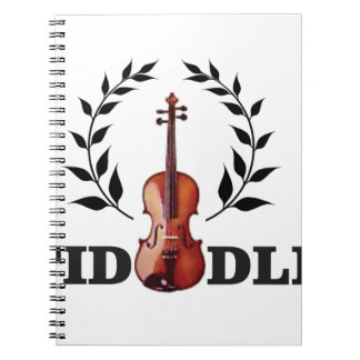 fiddle seal fun spiral notebook