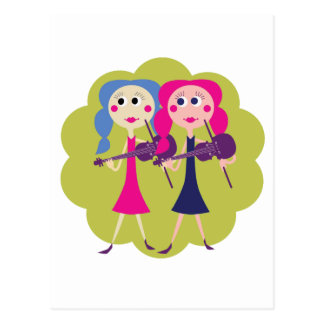 Fiddle Sisters on Notecards Postcard