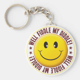 Fiddle Smiley Key Chains