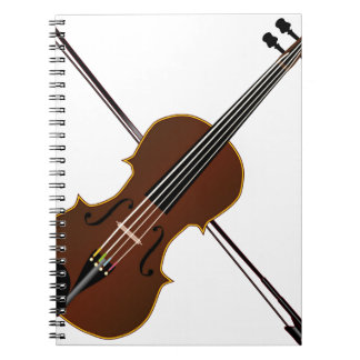 Fiddle Spiral Notebook