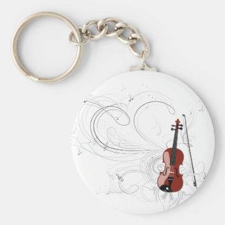 Fiddle Symphony Basic Round Button Keychain