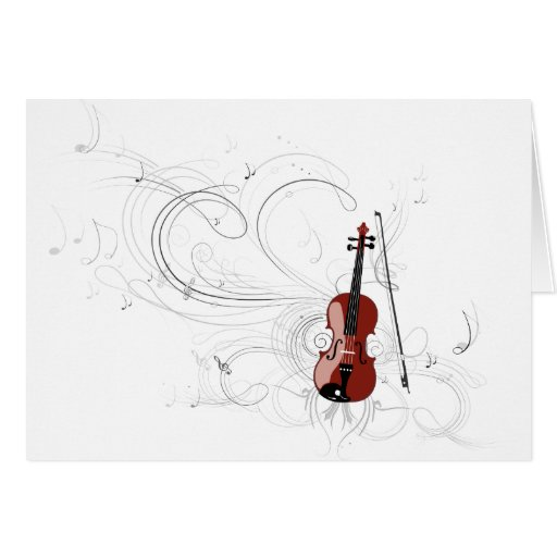 Fiddle Symphony Greeting Card