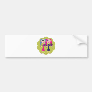 Fiddle Twin Note Cards and Decals Car Bumper Sticker
