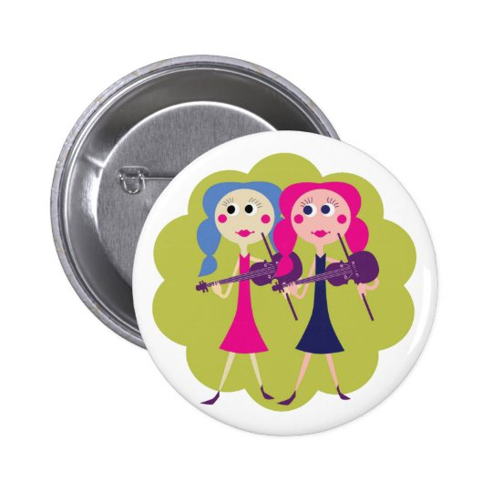 Fiddle Twins for Fiddle Players Button