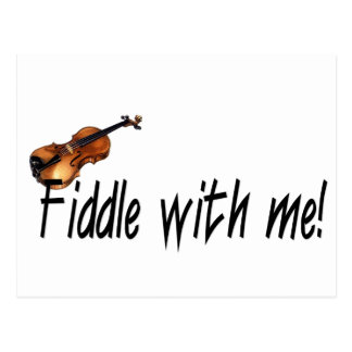 Fiddle with me! postcard