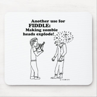 Fiddle zombie explode mouse pad