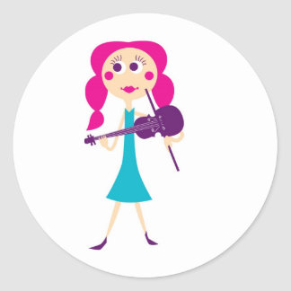 fiddlegal classic round sticker