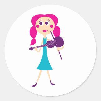 fiddlegal pegatina redonda