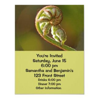 "Fiddlehead Fern 4.25"" X 5.5"" Invitation Card"