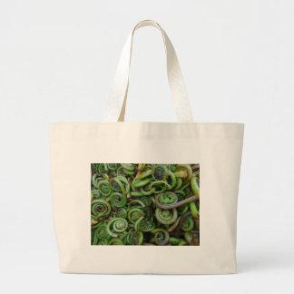 Fiddlehead Ferns Large Tote Bag