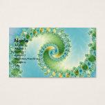 Fiddlehead - Fractal art Business Card
