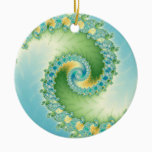 Fiddlehead - Fractal art Ceramic Ornament