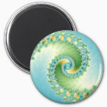 Fiddlehead - Fractal art Magnet