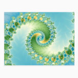 Fiddlehead - Fractal art Postcard