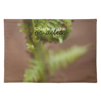 Fiddlehead Macro; Customizable Cloth Placemat