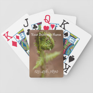 Fiddlehead Macro; Promotional Bicycle Playing Cards