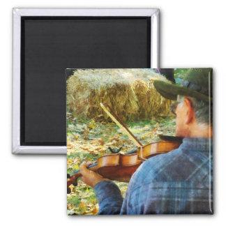 Fiddler 2 Inch Square Magnet