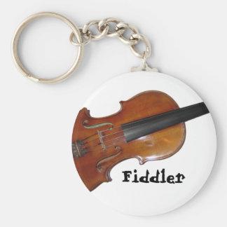 Fiddler Basic Round Button Keychain