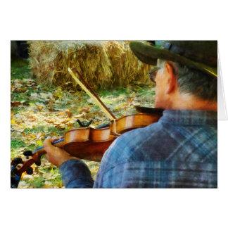 Fiddler Greeting Card