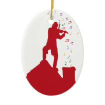 Fiddler  ceramic ornament