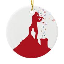 Fiddler  ceramic ornament