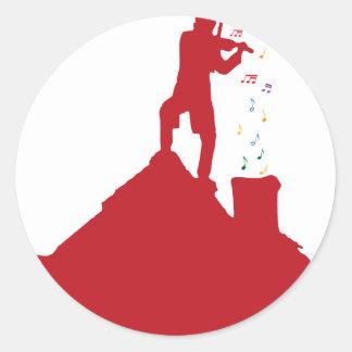 Fiddler  classic round sticker