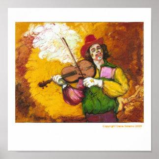 "Fiddler Clown ""Dubie Hummingbyrd"" Poster"