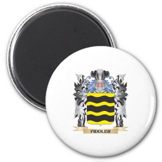 Fiddler Coat of Arms - Family Crest 2 Inch Round Magnet