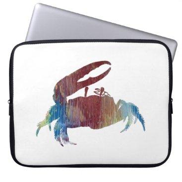Beach Themed Fiddler Crab Computer Sleeve