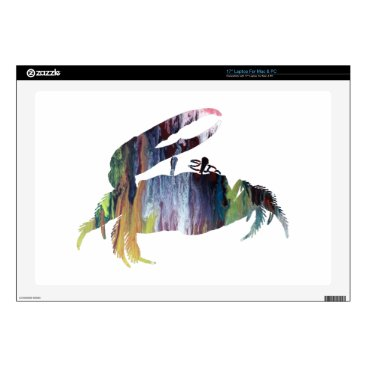 Beach Themed Fiddler Crab Decal For Laptop