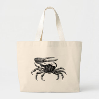 Fiddler Crab Drawing Canvas Bags