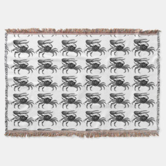 Fiddler Crab Drawing Throw Blanket