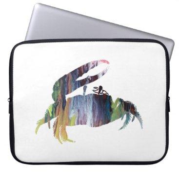 Beach Themed Fiddler Crab Laptop Sleeve
