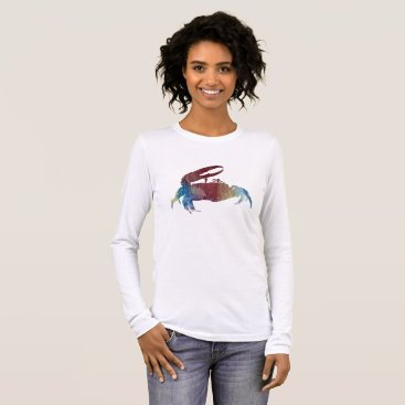 Beach Themed Fiddler Crab Long Sleeve T-Shirt